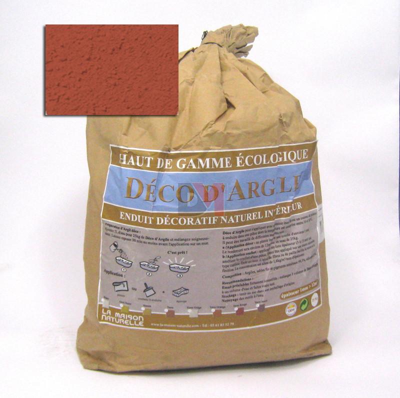 deco d 39 argile enduit terre rouge sac de 25kg produits effet d coratif peinture b timent. Black Bedroom Furniture Sets. Home Design Ideas