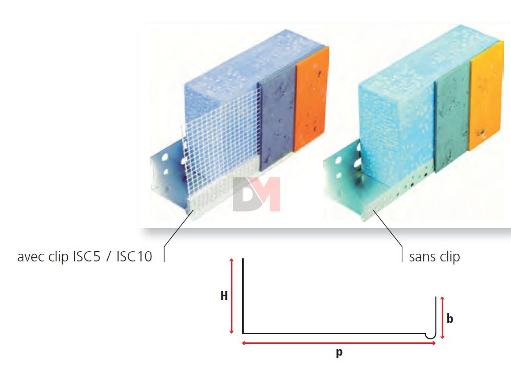 profil de d part en aluminium pour p isolant 100mm 2. Black Bedroom Furniture Sets. Home Design Ideas