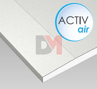 Plaque de pl tre activ 39 air ba 13 1200x2600x13mm for Plaque de platre ba 13