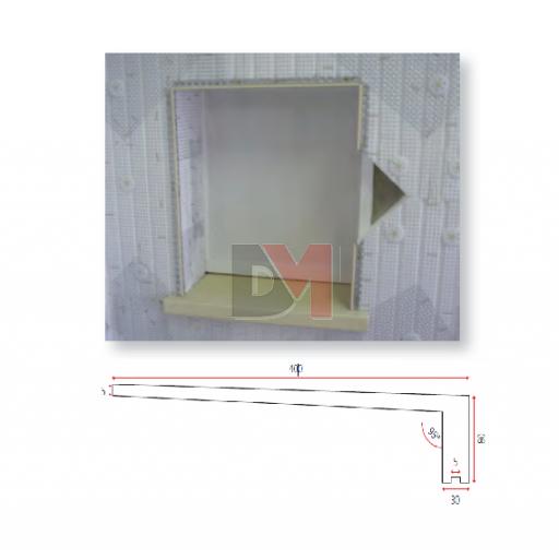 Appui de fen tre polyester 1400 400mm accessoires for Appui de fenetre beton prix
