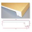 appui de fen tre polystyr ne hd 1500 400mm accessoires isolation ext rieure isolation. Black Bedroom Furniture Sets. Home Design Ideas