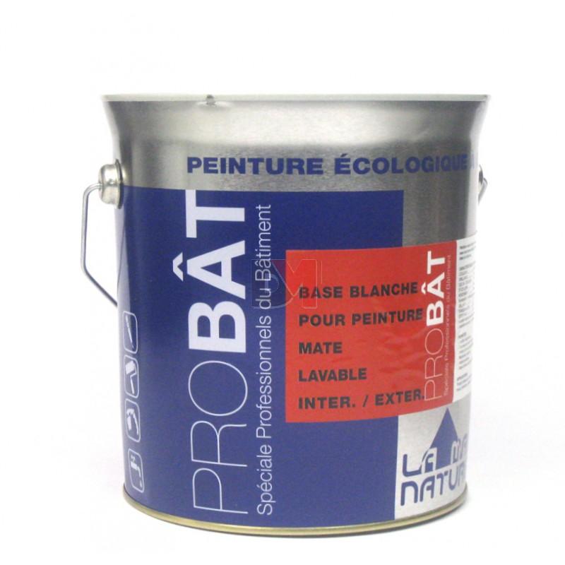 Base demi blanche pour peinture mate lavable inter exter for Peinture lavable