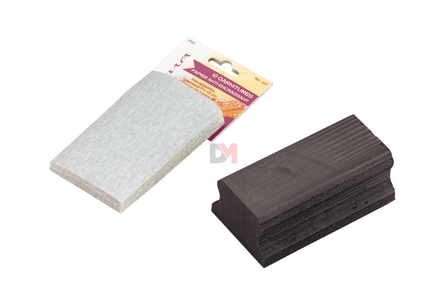 garniture papier de verre cale a poncer au meilleur prix. Black Bedroom Furniture Sets. Home Design Ideas