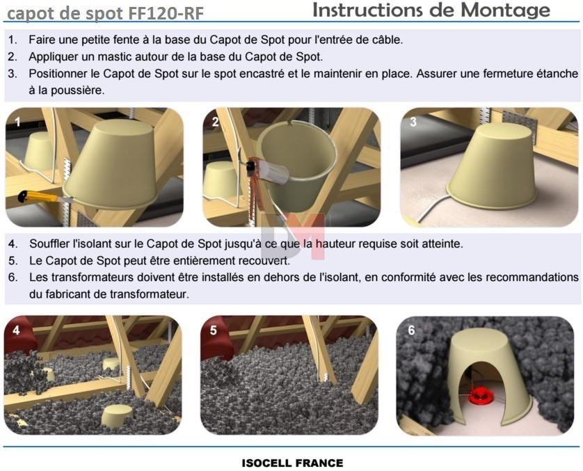 capot de spot ff120 isocell. Black Bedroom Furniture Sets. Home Design Ideas