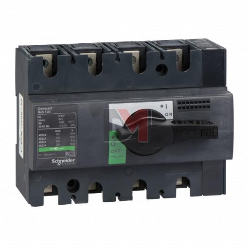 Interrupteur sectionneur Interpact INS100 4P 100 A
