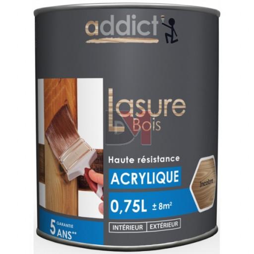 ADDICT Lasure acrylique 0,75L incolore