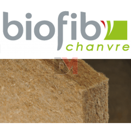 BIOFIB PANNEAU CHANVRE | Ep.60mm 1,25x0,6m | R=1,5