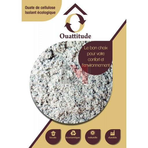 Ouate de cellulose en vrac OUATTITUDE Lambda=0,039 W/m°C ACERMI