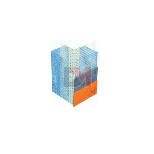 Profilé d'angle en PVC entoilé - finitions minces - 2,5ML | Boites de 50 pces