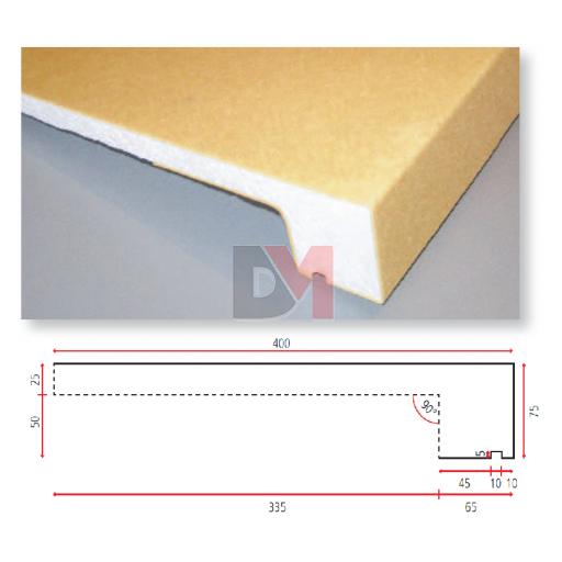 Appui de fenêtre polystyrène HD 1500*400mm