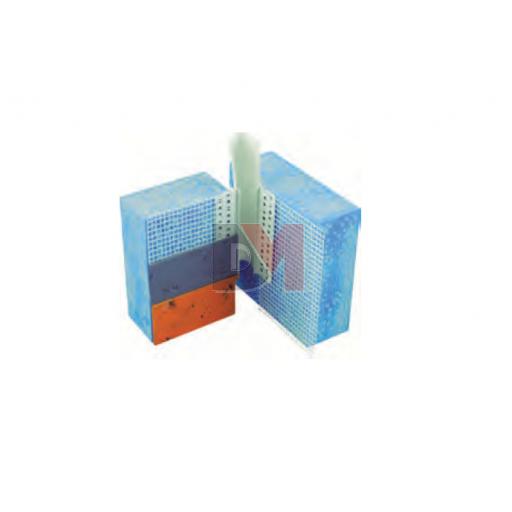Profilé de dilatation en PVC entoilé - Forme V pour angles rentrants