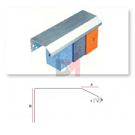 Profilé de couronnement en aluminium 200mmx2,5ML