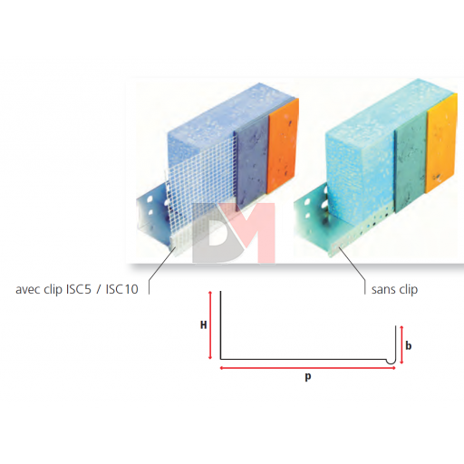 Profilé de départ en aluminium pour ép. isolant 200mm - 2,5ML