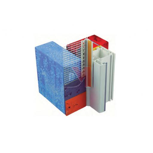 Profilé de désolidarisation et de protection des portes et fenêtres pour ép. enduit 15mm 2,4ML