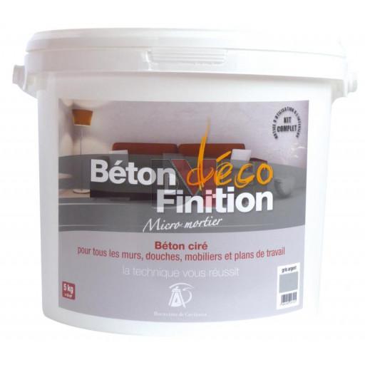 Kit béton déco enduit béton ciré blanc à teinter avec pigment - Seaux de 5kg