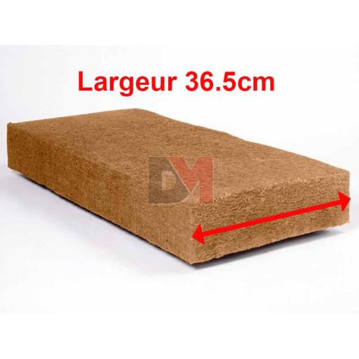Panneau fibre de bois STEICO FLEX Largeur 36,5cm  Ep. 80mm 36,5cmx122cm Densité=50kg/m³ R : 2,11