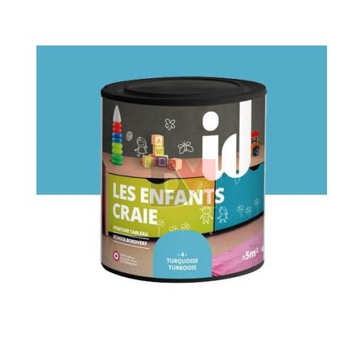 LES DECORATIVES Les Enfants Craie 0,5L turquoise
