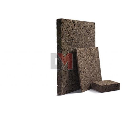 Panneau isolant de liège expansé Acermi Amorim Corkisol bords droits | Ep.60mm, 50X100cm R : 1,5