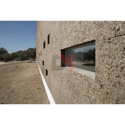 Panneau de liège expansé spécial façade bords droits D=140-160kg/m3 | Ep.120mm, 50X100cm