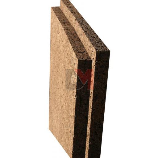 Panneau isolant de liège expansé Acermi Amorim Corkisol bords mi-bois | Ep.60mm, 50X100cm R : 1,5