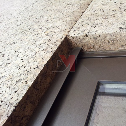 Panneau de liège expansé spécial façade extérieure brute | Bords mi-bois | D=140-160kg/m3  | Ep.100mm, 50X100cm