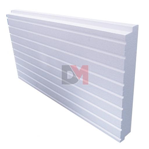 Polystyrène expansé blanc rainuré queues d'aronde | Ep. 40mm | Format 1.20x0.60 | R=0.75