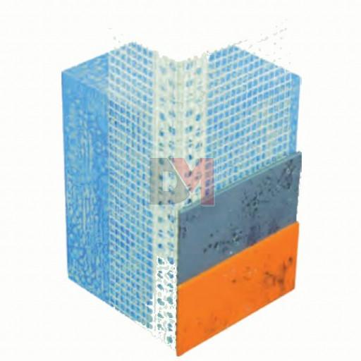 Profilé d'angle en PVC entoilé - finitions minces – 2,5ML
