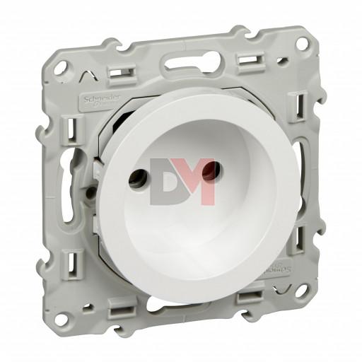 Odace, prise de courant 2P Blanc, à vis, connexion rapide sans terre S520033