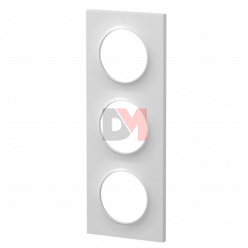 Plaque STYLE blanc 3 Postes 71mm