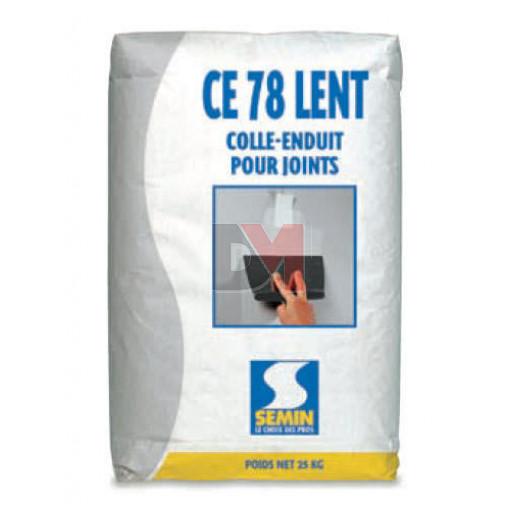 Enduit joint lent pour traitement des joints plâtre CE 78 24 h - 25 kg (0.66kgm²)