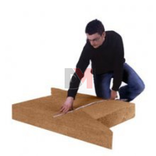 Panneau fibre de bois triangulaire STEICO FLEX COINS | Ep. 180mm 1,22mx67cm