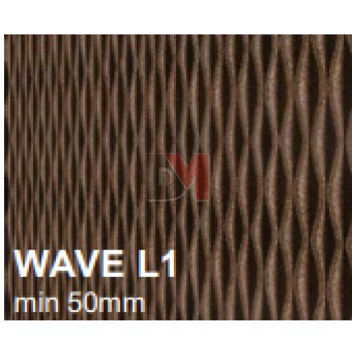 Lot de 3 panneaux MD Façade Intér/Extér 50x100cm WAVE L1 ep.100mm