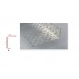 Profilé d'arrêt latéral en aluminium perforé pour ép. isolant 290mm - 2,5ML