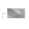 Profilé d'arrêt latéral en aluminium perforé pour ép. isolant 280mm - 2,5ML