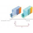 Profilé de départ en aluminium pour ép. isolant 160mm - 2,5ML