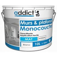 ADDICT Acryl mat monocouche 10L blanc DELZ-ADD-51500730 de ADDICT