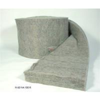 Paquet de 2 rouleaux Laine de mouton Naturlaine Ep.80 mm | 0,6 mx10 m soit 12m² NATURLAINE-RLX8060-N60NA80R de Naturlaine