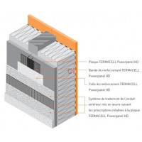 Plaque FERMACELL Powerpanel HD | Ep. 15mm | 1250x1000 - contreventement - support d'enduit FERMA-75023 de Fermacell