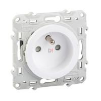 Odace prise de courant 2P+T blanc, à vis, 4 connexions rapides S520049 SCHN-S520049 de Schneider Electric