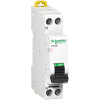 Prodis DT40K- disjoncteur - 1P+N - 6A - courbe C - 4,5 kA SCHN-A9N21102 de Schneider Electric