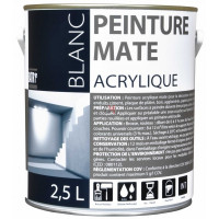 BATIR 1° Acrylique mat 2,5L blanc DELZ-ADD-51601272 de ADDICT