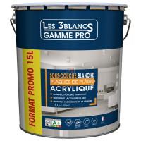 LES 3 BLANCS Sous-couche plaques de plâtre 15L blanc DELZ-LES-51701215 de LES 3 BLANCS