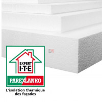 POLYSTYRENE EXPANSE   Ep. 20mm   Format : 1.20x0.60   R=0,50 PAREX-IPLB20 de Parexlanko