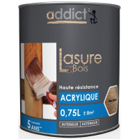 ADDICT Lasure acrylique 0,75L merisier DELZ-ADD-51500500MERI de ADDICT