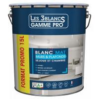 LES 3 BLANCS mat 15L blanc DELZ-LES-51701205 de LES 3 BLANCS
