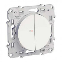 Double va et vient 10A blanc SCHN-S520214 de Schneider Electric
