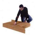 Panneau fibre de bois triangulaire STEICO FLEX COINS | Ep. 180mm 1,22mx67cm STEICO FLEX COINS 180 de Steico