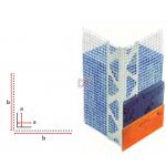 Profilé d'angle en PVC entoilé - finitions épaisses Gratté - 2,5ML PAREX-IA3-UNIT de Parexlanko