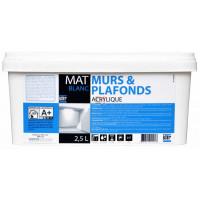 BATIR 1° Murs et plafonds mat 2,5L blanc DELZ-ADD-51601122 de ADDICT