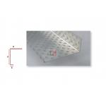 Profilé d'arrêt latéral en aluminium perforé pour ép. isolant 140mm - 2,5ML PAREX-IPALA140-1 de Parexlanko